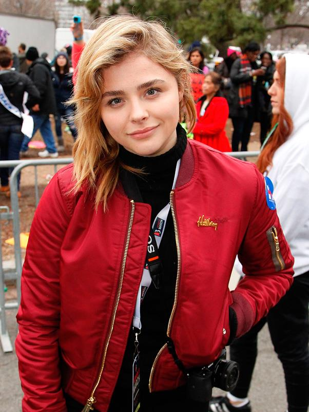 """<p><strong>Chloe Grace Moretz</strong> <BR><BR> Chloe wrote on Twitter, """"I feel nauseous and truly ill over the current state of our country"""", before filming from the LAX protest."""