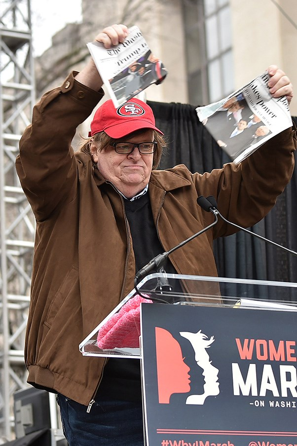 """<p><strong>Michael Moore</strong> <BR><BR> """"To our Muslim neighbours in the world: I & tens of millions of others are so very sorry. The majority of Americans did not vote 4 this man,"""" the filmmaker wrote on Twitter."""