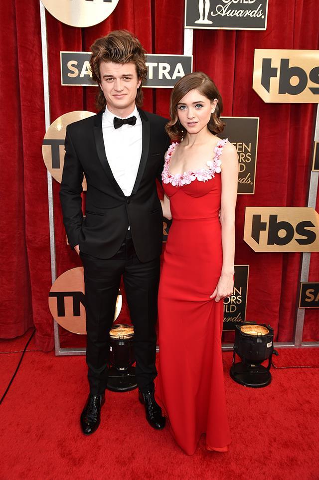 Joe Keery and Natalia Dyer