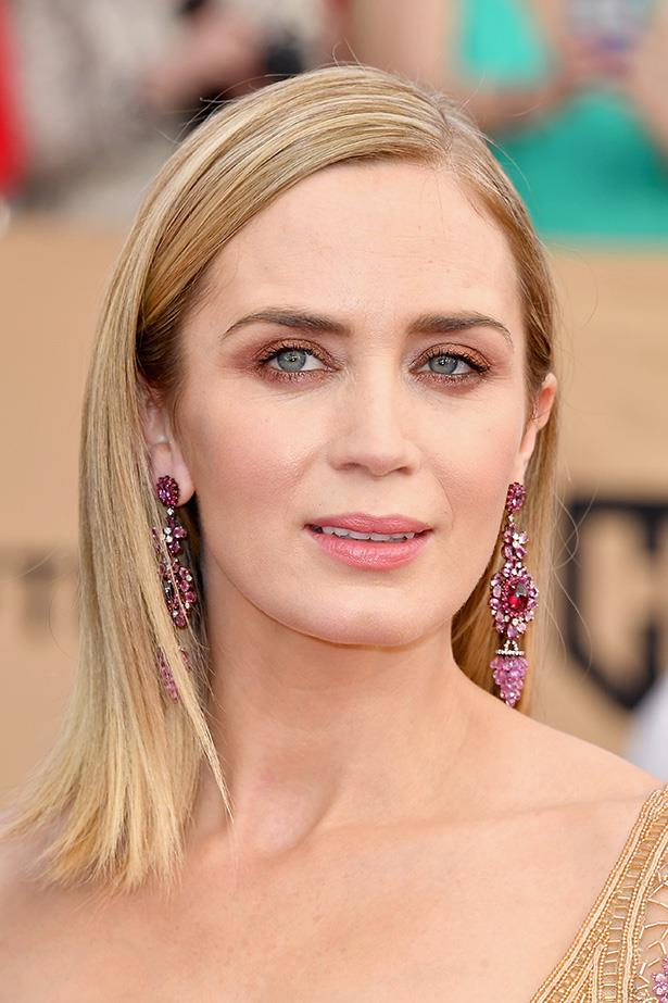 <strong>Emily Blunt</strong> <br> <br> In keeping with this seasons pink eye shadow trend, Emily's gone for a rose gold sweep of shadow — SO much chicer than your average bronze wash.