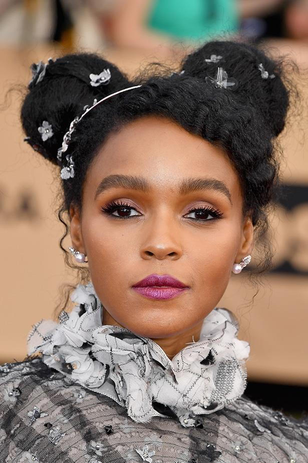 <strong>Janelle Monae</strong> <br> <br> Are hair gems back? We're undecided, but that metallic purple lip is a definite yes.