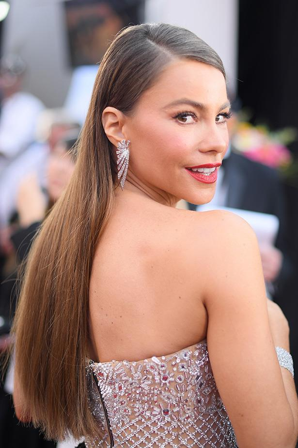 <strong>Sofia Vergara</strong> <br> <br> Ever the one to make a statement, Sofia's rocking a deep coral red with a smoked-out winged eye, reconfirming that coral is definitely the hue of the day.