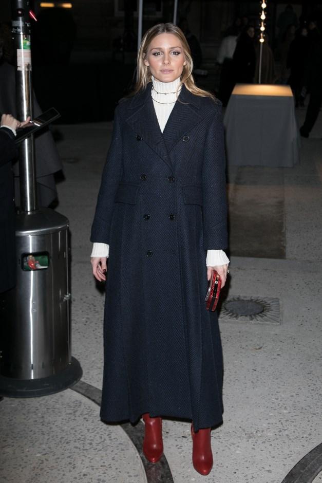 Attending Valentino Haute Couture.