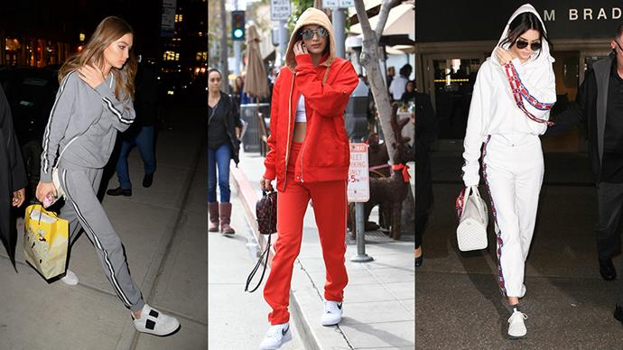 Serious question: Are high fashion sweatpants the new luxury in 2017? Kendall, Gigi and Kim certainly seem to think so.