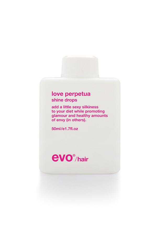 "Evo Love Perpetua Shine Drops, $32.95, at <a href=""https://evohair.com/"">Evo Hair </a>"