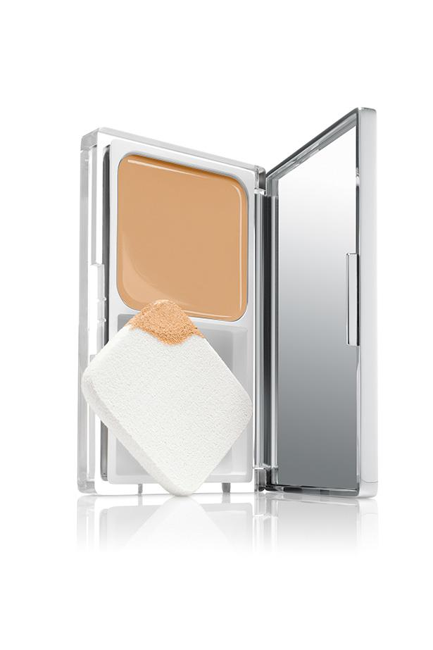 """Clinique's CC Cream is packaged like a compact foundation, because it kind of acts like one—it's just a more technological version. It's more lightweight than your traditional foundation finish, creating a natural glow. <br> <br> Clinique Moisture Surge CC Cream Compact SPF 25, $50, at <a href=""""https://www.clinique.com.au/product/1599/29795/Makeup/Foundations/Moisture-Surge-CC-Cream-Compact-SPF-25"""">Clinique</a>"""