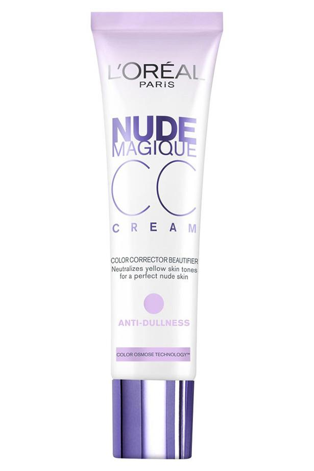 """This one's a whiz at neutralising redness in the skin. <br> <br> L'Oreal Paris Nude Magique CC Cream Anti-Dullness, $26.95, at<a href=""""null""""> Priceline</a><a href=""""https://www.priceline.com.au/l-oreal-paris-nude-magique-cc-cream-anti-dullness-30-ml""""></a>"""