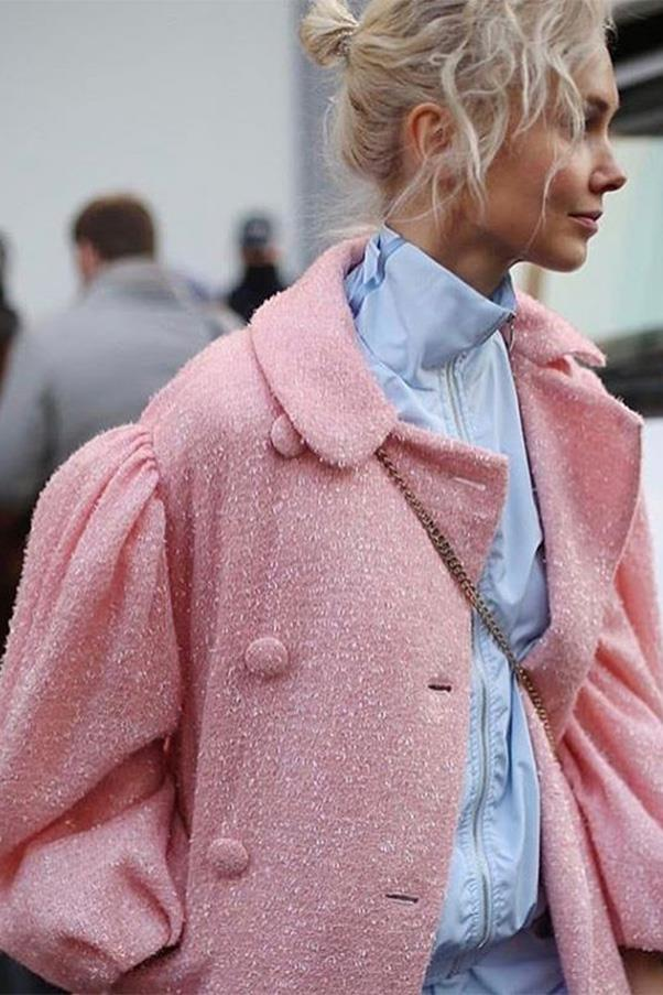 """<strong><a href=""""http://www.cottweiler.com/"""">Cottweiler</a></strong><br><br> Under-the-radar British menswear label Cottweiler just took out the prestigious international Woolmark prize—so you can expect to hear more from them in the next 12 months. Their borderline unisex offering of jackets and tees are already favoured by the cooler-ranked female members of the European street style set, like <a href=""""https://www.instagram.com/p/BPhpDZFhUkn/?taken-by=okarput"""">Olga Karput</a> (pictured). <br><br> Buy similar: Cottwiler jacket, approx. $450 at <a href=""""https://www.ssense.com/en-us/men/product/cottweiler/blue-hotel-track-jacket/1926923"""">Ssense</a>"""