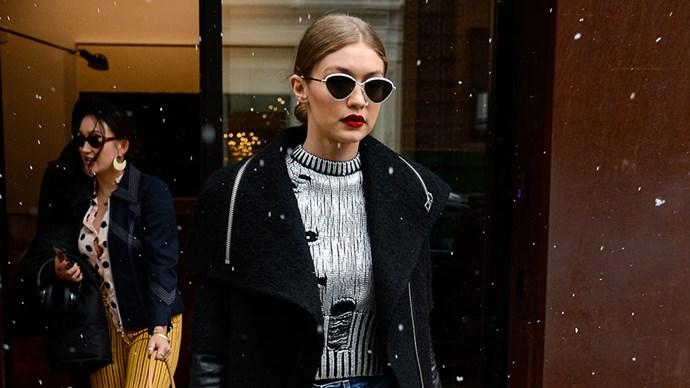Model Gigi Hadid street style