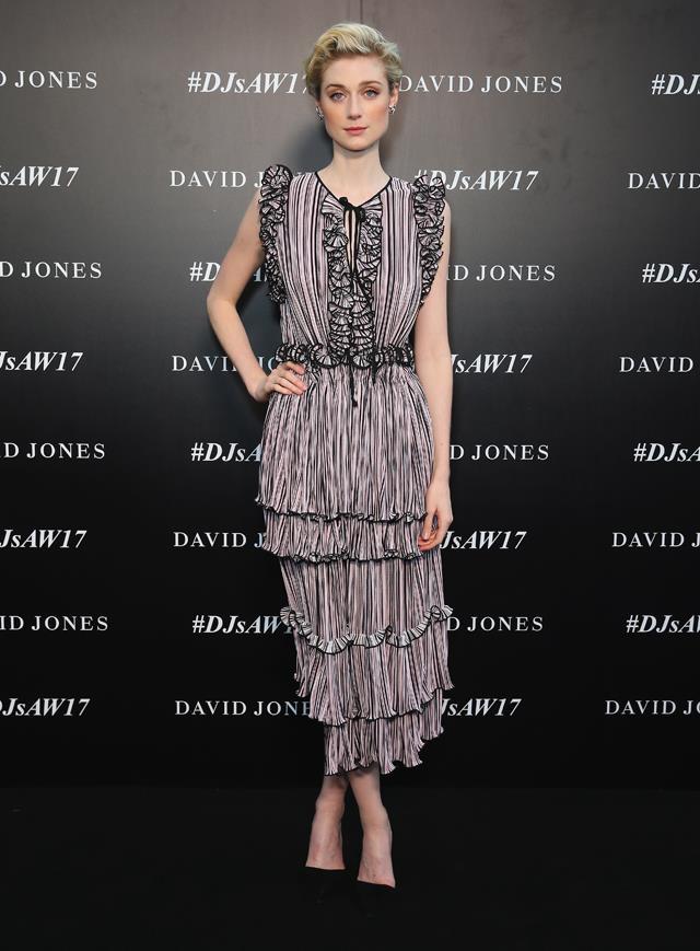 Elizabeth Debicki went slightly more subtle, with a tiny key-hole detail in her dress.