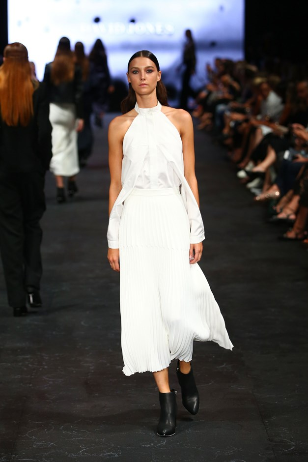 Exposed shoulders were showcased by Dion Lee.