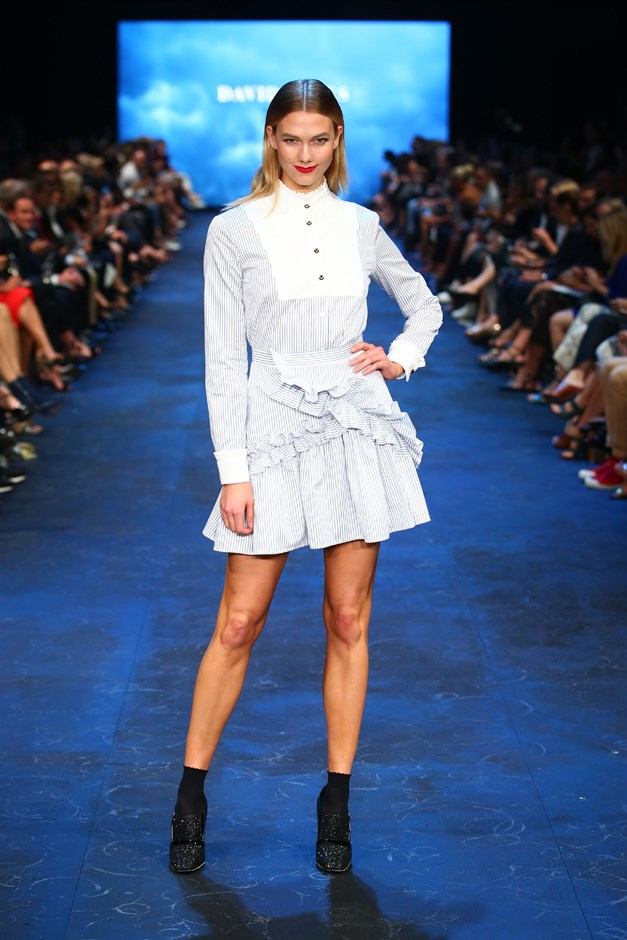 Karlie got acquainted with some Aussie designers on the runway for David Jones, including Macgraw...