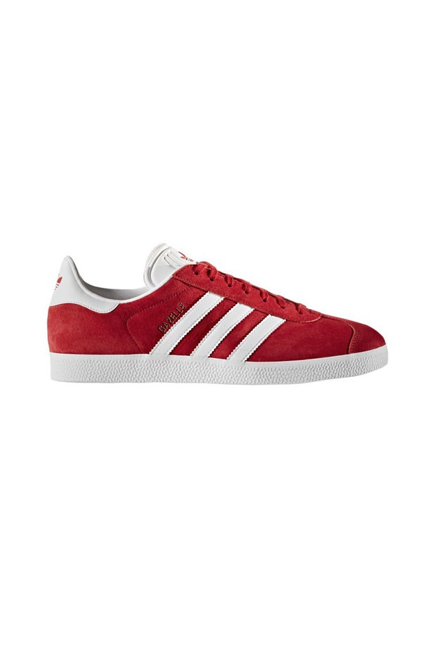 "Adidas Gazelle, $120 at <a href=""http://www.stylerunner.com/shop/product/BB5486/gazelle-power-redwhitegold-metallic.html"">Stylerunner</a>."