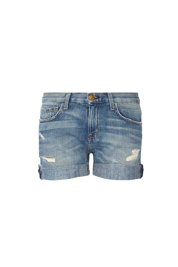 "Current/Elliott shorts, $314 at <a href=""https://www.net-a-porter.com/au/en/product/789750/current_elliott/the-boyfriend-distressed-denim-shorts"">Net-a-Porter</a>"
