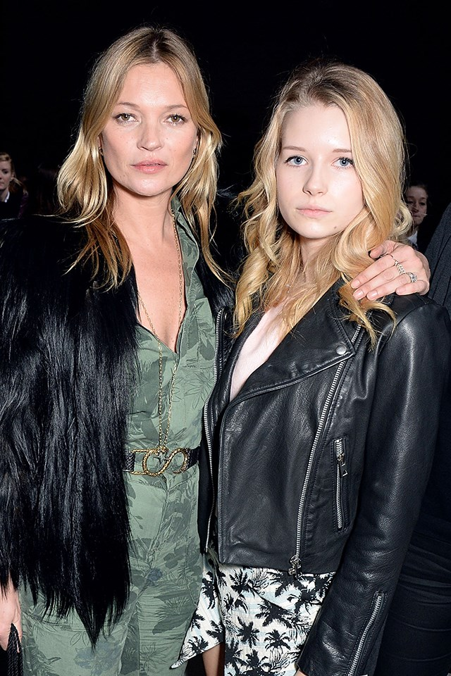 <strong>Kate Moss,</strong> the original, <strong>Lottie Moss</strong>, on her way.