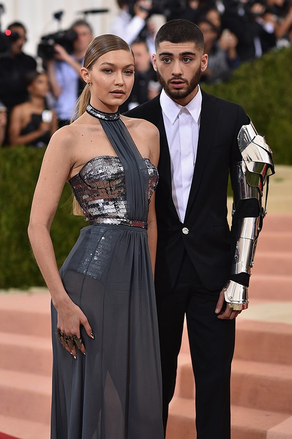 Gigi Hadid in Tommy Hilfiger at the Met Gala.