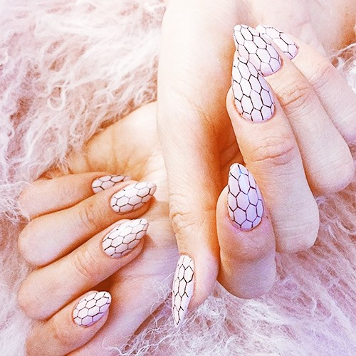 """<p><strong>Stiletto</strong> <p><strong>What it looks like:</strong> Long and super pointy. <p><strong>Best length:</strong>This needs to be on a fairly long nail to achieve the effect. <p><strong>Shade selection:</strong> """"I think they look a bit intense with dark colours so I prefer this style with lighter soft sheer pinks, terracotta or blush."""""""
