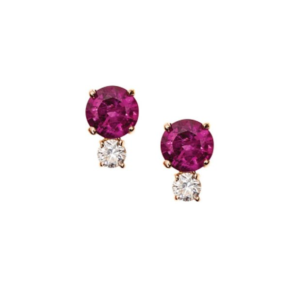 "<p>Jemma Wynne earrings, approx. $1,781 at <a href=""https://editorialist.com/jewelry/earrings/ruby-and-diamond-studs"">Editorialist</a>"