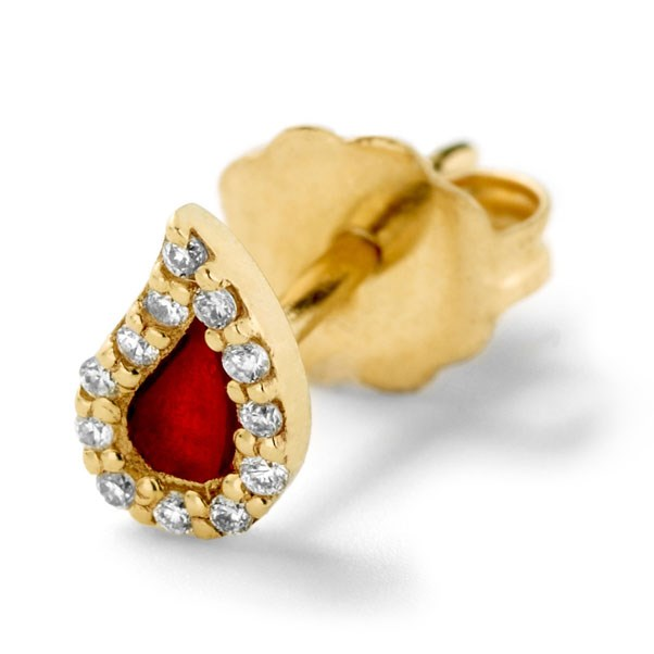 "<p>Alison Lou earring, approx. $776 at <a href=""http://www.alisonlou.com/collections/earring/products/blood-drop-stud-earring"">Alison Lou</a>"