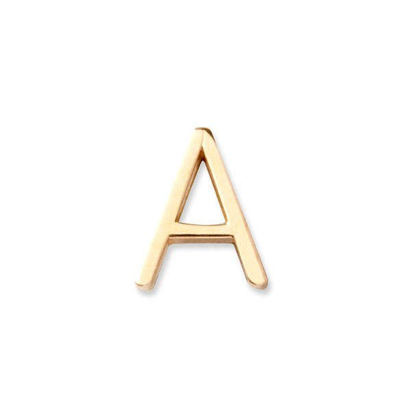 "<p>Maya Brenner earring, approx. $127 at <a href=""http://www.mayabrenner.com/product/14k-gold-letter-stud-a"">Maya Brenner</a>"