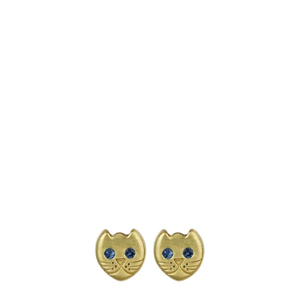 "<p>Me&Ro earrings, approx. $913 at <a href=""http://www.meandrojewelry.com/collections/womens-earrings/products/18k-gold-tiny-kitten-stud-earrings-with-sapphire-eyes"">Me&Ro </a>"