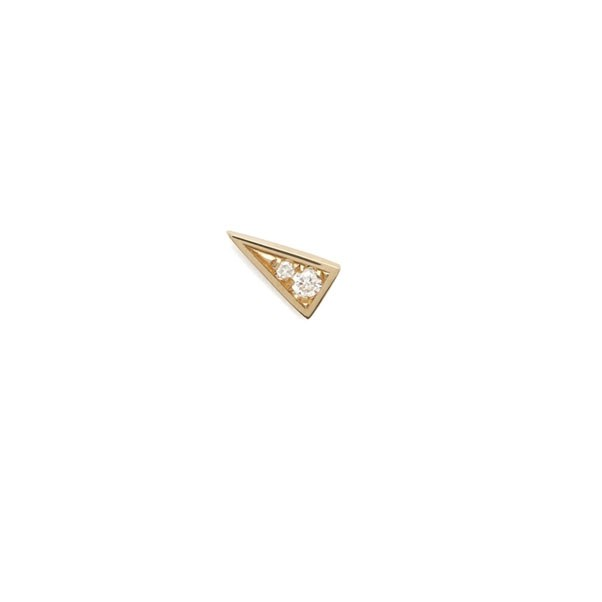 "<p>Azlee earring, approx. $443 at <a href=""http://azleejewelry.com/electric-collection/electric-diamond-mini-stud-18k-yellow-gold"">Azlee </a>"