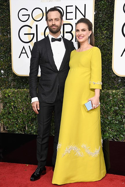 Natalie Portman at the 2017 Golden Globes.
