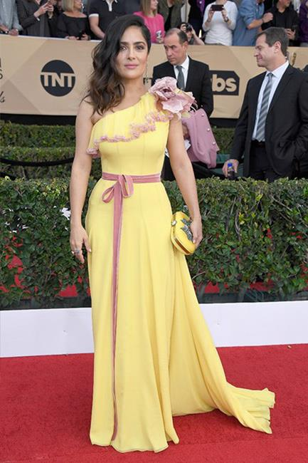 Salma Hayek at the 2017 SAG Awards.