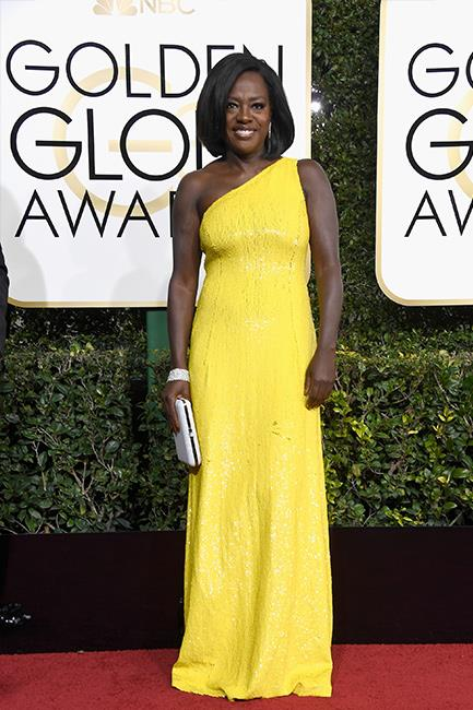 Viola Davis at the 2017 Golden Globes.