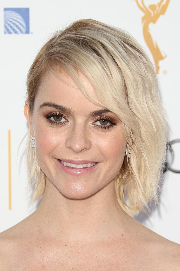 <strong>Taryn Manning</strong>  <br> <br>  Loads of texture and a deep side-part keep it high-volume.