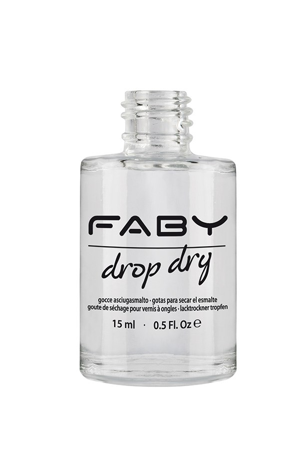"""<strong>Invest in a drying oil</strong> <br> <br> An oil will dry your polish in 2.5 seconds and lend your cuticles some smoothing hydration so they appear healthy, even though you haven't had time to tend to them. <br> <br> FABY Drop Dry, $29.95, at<a href=""""http://http://faby.com.au/drop-dry-15ml/""""> Faby</a>"""