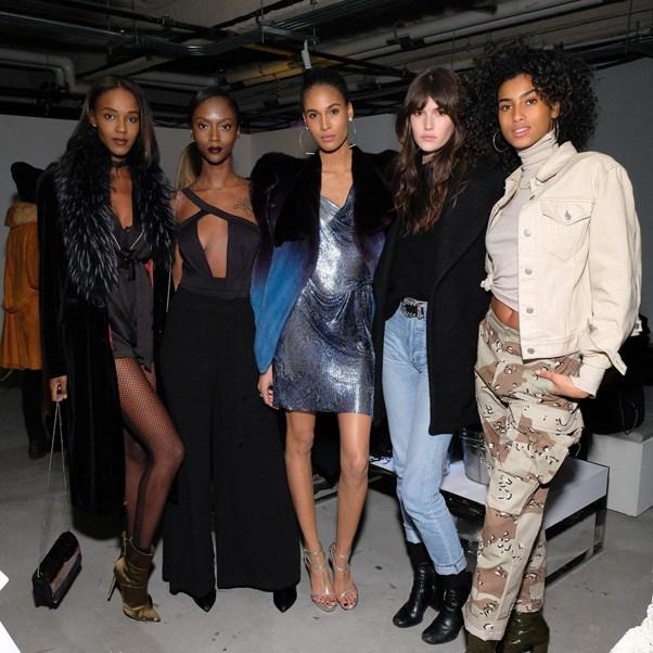 <P><strong>FENDI</strong> <BR><BR> Leila Nda, Riley Montana, Cindy Bruna, Vanessa Moody and Imaan Hammam