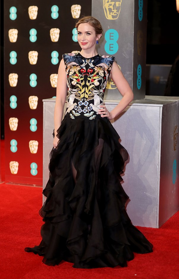 Emily Blunt in Alexander McQueen.