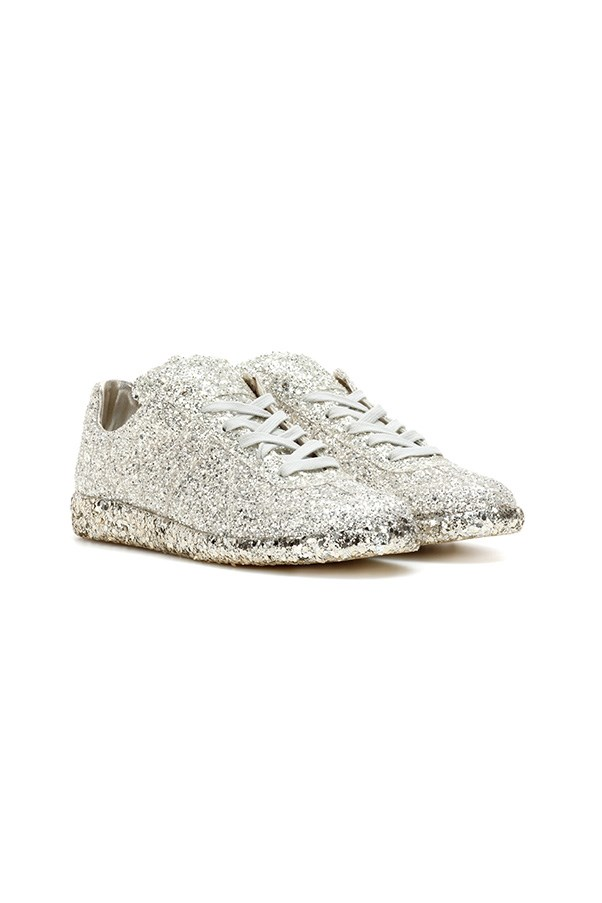 "Sneakers, $815, Maison Margiela at <a href=""https://www.net-a-porter.com/au/en/product/681749/fendi/embellished-appliqued-leather-slip-on-sneakers"">Net-a-Porter</a>"