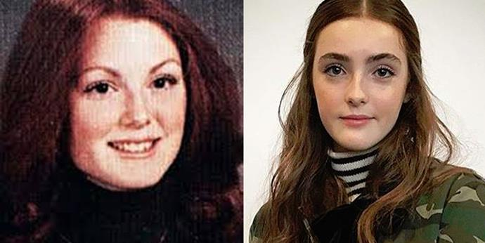 <strong>Julianne Moore and Liv Freundlich</strong> <br><br> In high school.