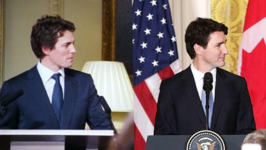 Breaking: Justin Trudeau Is Hugh Grant In 'Love Actually'