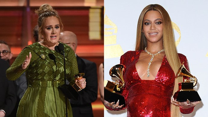 Adele Beyonce Grammys 2017