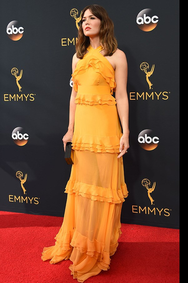 In Prabal Gurung at the Emmys.