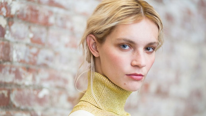 <strong>Creatures of Comfort</strong> <br><br> The hair at Creatures of Comfort was simple. After applying a mousse, hair was blow dried, first using hot air to lock in the style, then cold air to seal it. Finally, a spray of dry shampoo gave the look a matte, lived-in finish.