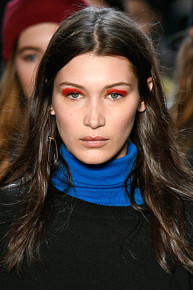 <strong>Zadig and Voltaire</strong> <br> <br> Paint-splash eyes are the one eye cream trend that's actually achievable at home. For this artsy look, messy and smudged is best.