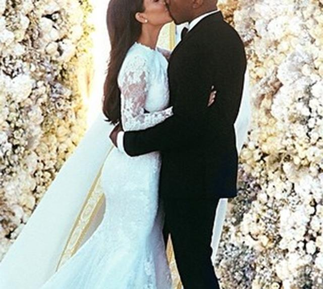Kanye West and Kim Kardashian wedding.