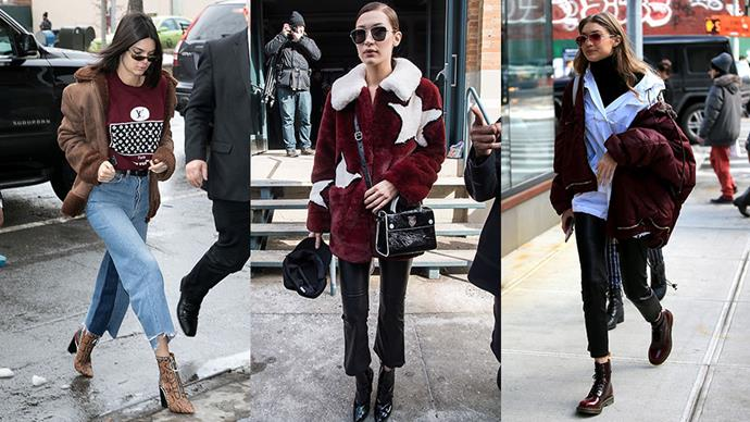 The best off-duty style moments from Bella Hadid, Gigi Hadid and Kendall Jenner as they hit New York city for the first leg of fashion week.