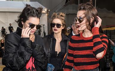 Kendall, Gigi And Bella Going For A Macca's Run In Between Fashion Shows Is Definitely #Relatable