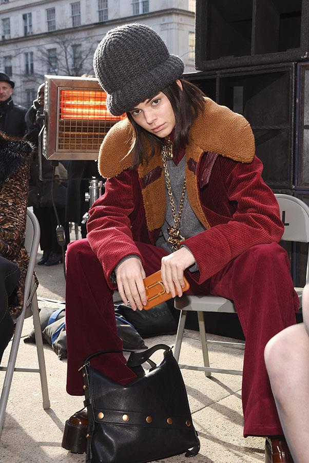 The oversized beanies at Marc Jacobs.
