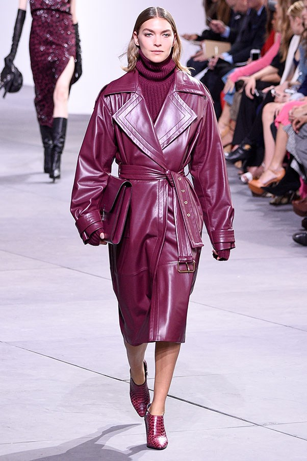 This head-to-toe eggplant look at Michael Kors.