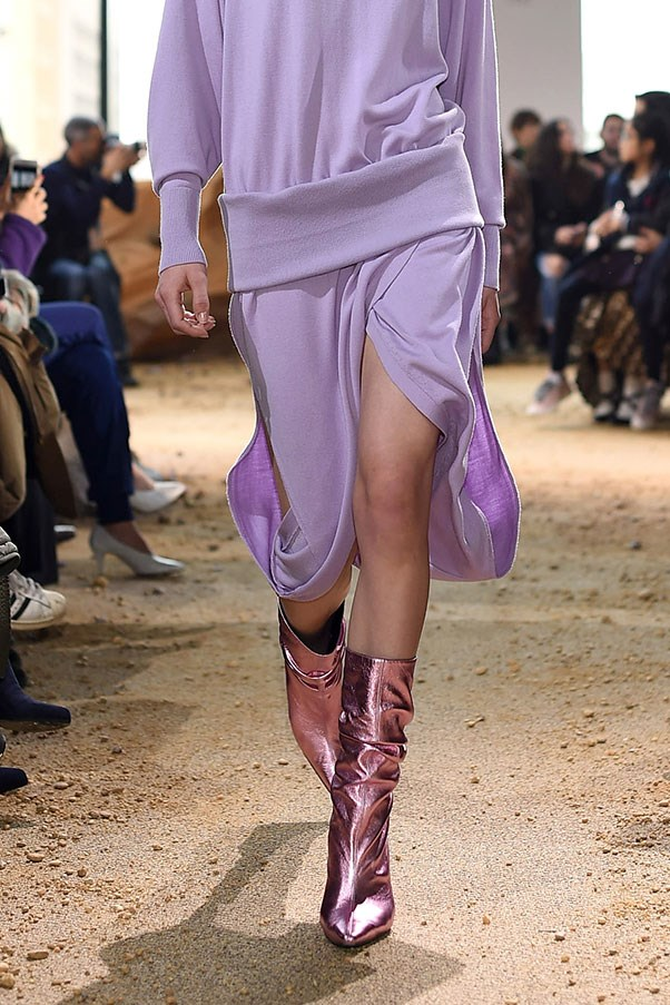The return of calf-length boots at Lacoste.