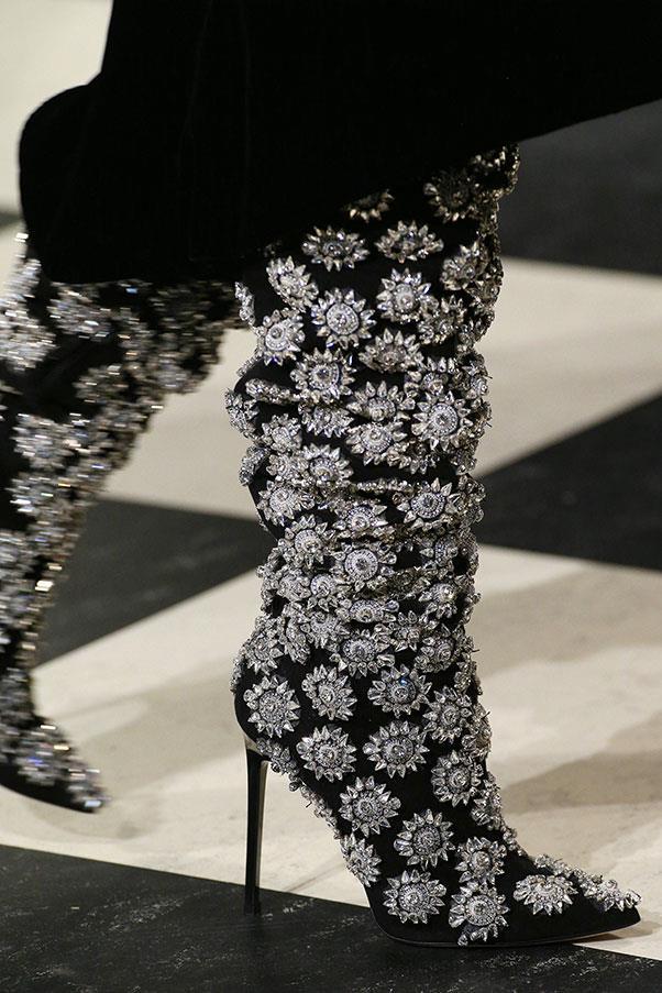 These embellished boots at Oscar de la Renta.