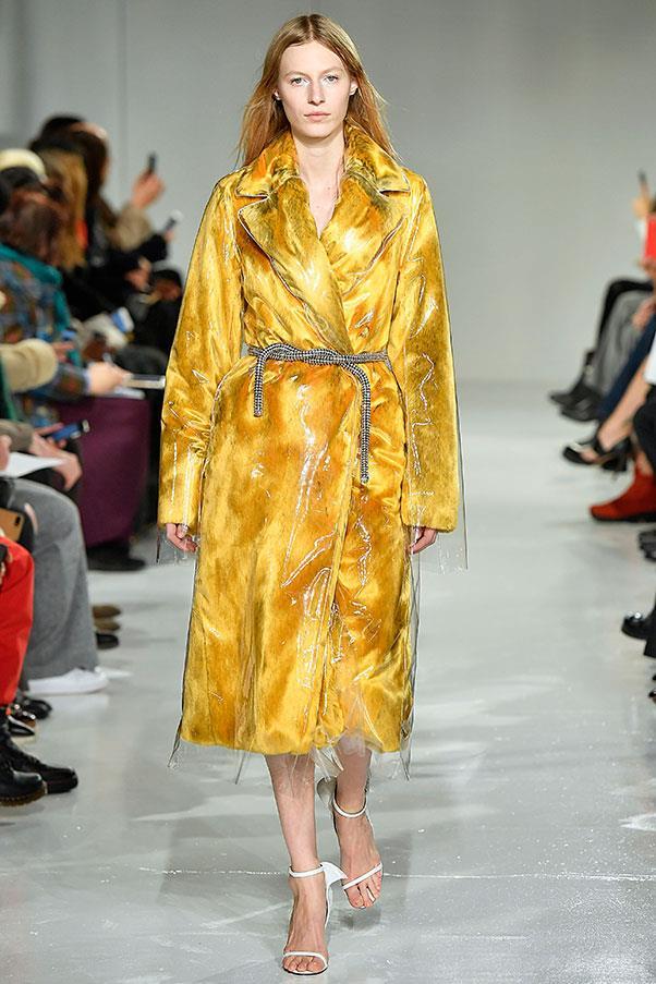 This incredible coat at Calvin Klein.