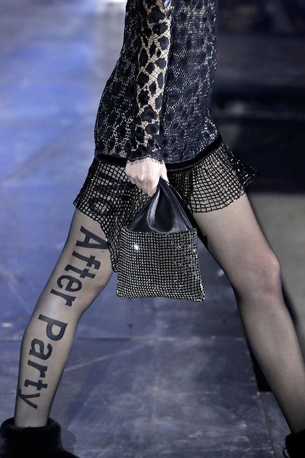 The grunge-y details at Alexander Wang.