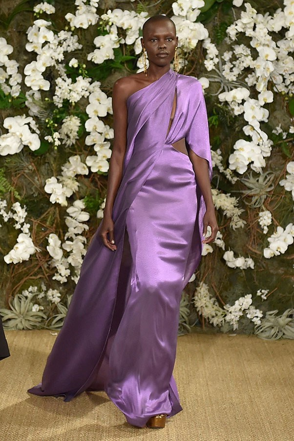 This Oscars-worthy gown at Ralph Lauren.